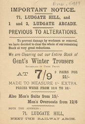 Advert For A Men's Clothing Store 6419